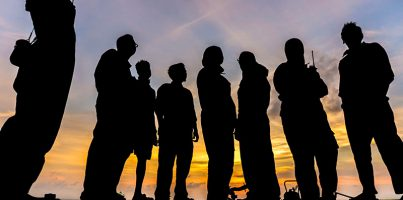 offshore-crew-in-silhouette